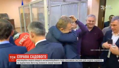 Андрія Садового відпустили під особисте зобов'язання