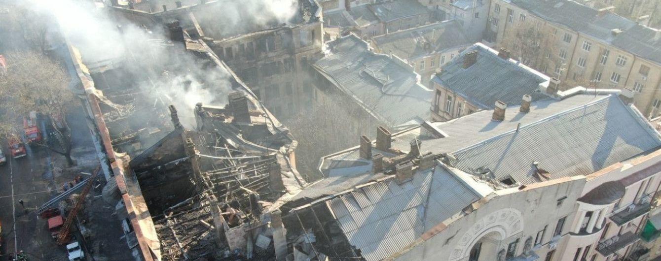 Пожар в колледже Одессы. Спасатели нашли еще два тела под завалами
