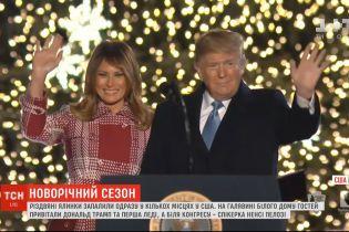 Дональд Трамп вместе с женой Меланией зажгли огни на главной елке США