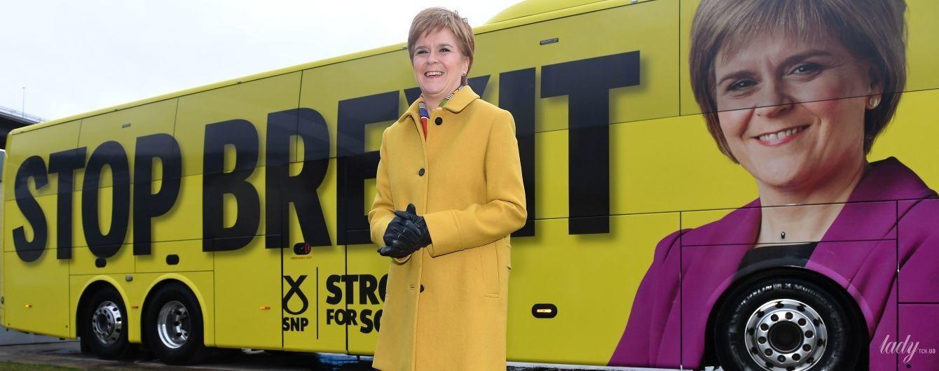 В ярко-желтом пальто: эффектный образ первого министра Шотландии