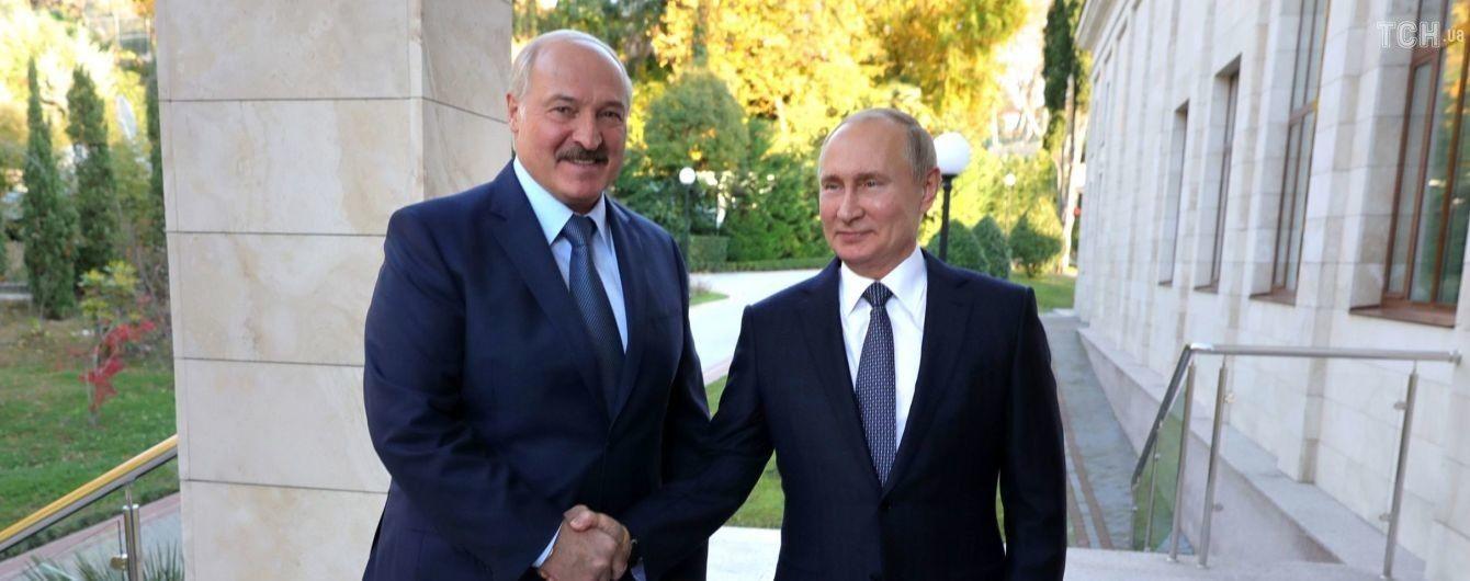 Во время встречи Путина и Лукашенко выключился свет