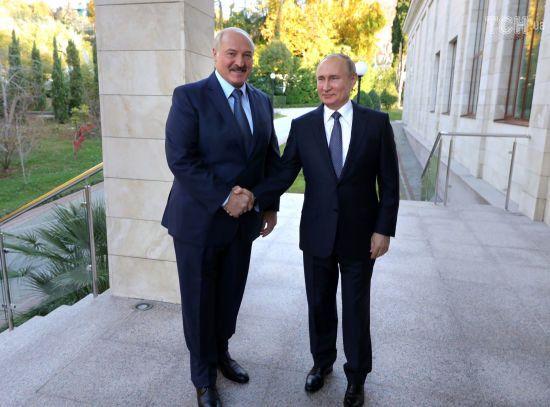 Під час зустрічі Путіна і Лукашенка вимкнулось світло