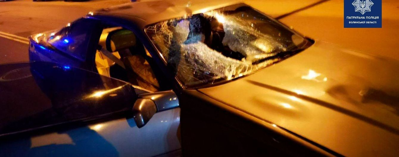 В Луцке с погоней задержали пьяных мужчин в BMW, которые насмерть сбили женщину