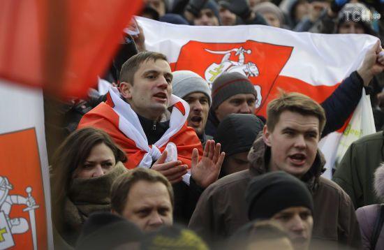 У Мінську люди знову вийшли на мітинг проти інтеграції Білорусі з Росією