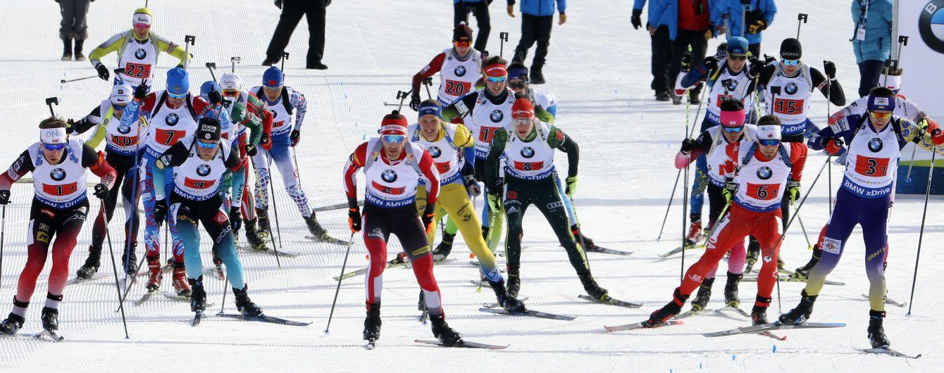 Мужская сборная Украины по биатлону финишировала шестой в эстафете на Кубке мира