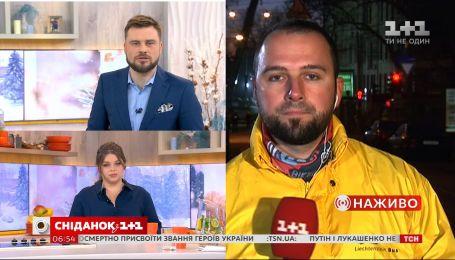 Корреспондент Антон Пшеничный рассказал, что сейчас происходит на месте пожара в Одессе