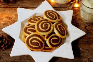 Спіральне печиво з мигдалем та шоколадом
