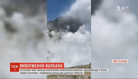 На новозеландском острове Уайт-Айленд началось извержение вулкана