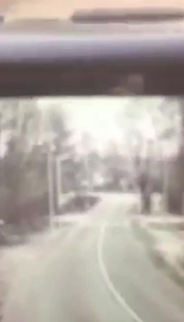 На Киевщине автомобиль сбил детей и влетел в столб