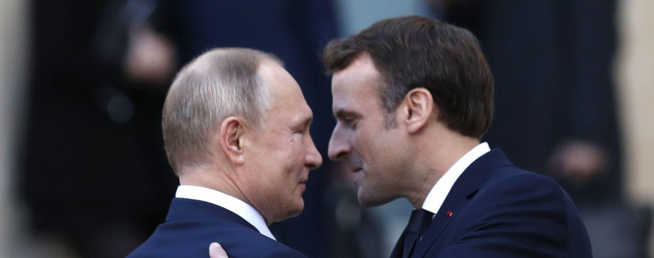 """""""Достаточно. Время ужинать"""". Макрон прервал переговоры Зеленского и Путина в Париже - РосЗМІ"""