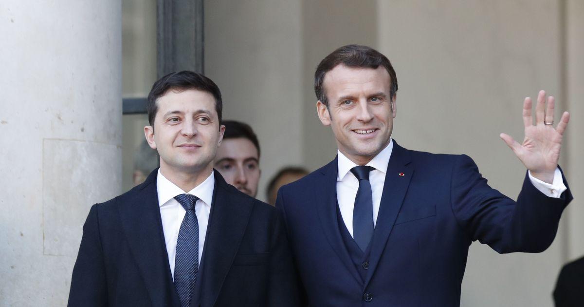 Макрон запевнив, що Україна може розраховувати на його рішучість у сприянні закінченню війни на Донбасі