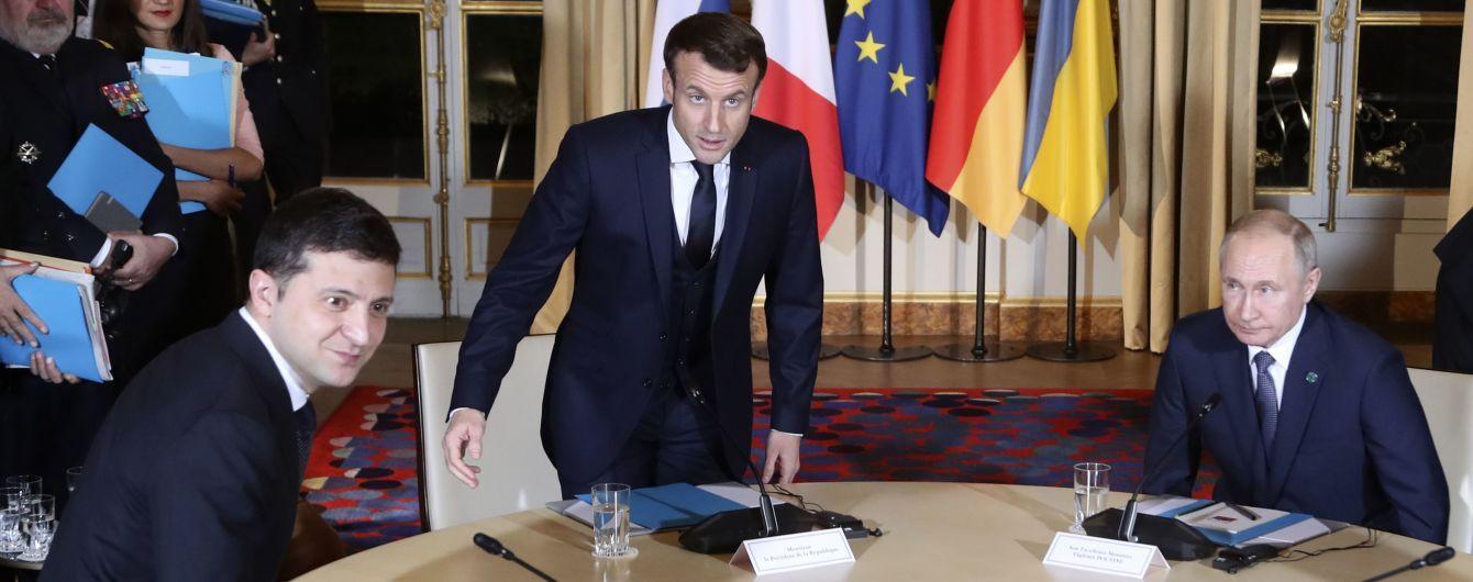 В Кремле подтвердили, что Макрон прервал личную беседу Путина и Зеленского в Париже