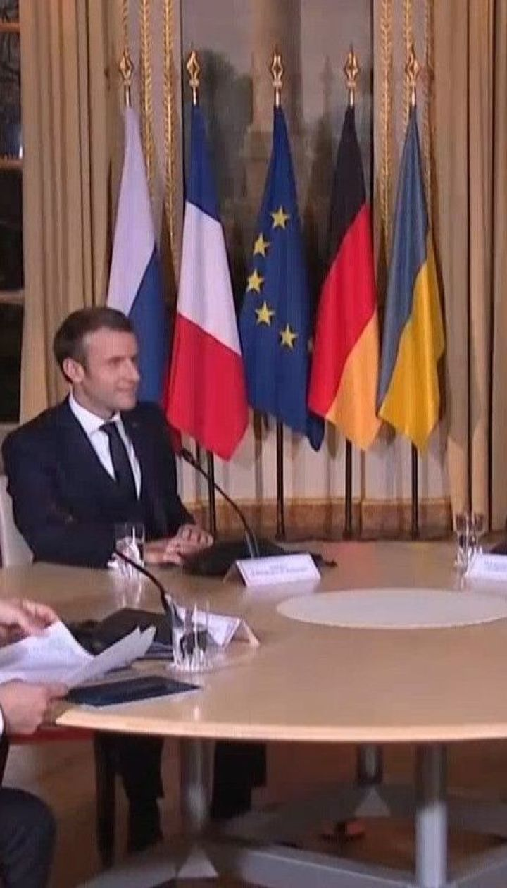 Настрій робочий і спокійний: у Парижі Зеленський і Путін розпочали розмову віч-на-віч