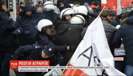 В Варшаве полиция с дубинками разогнала митинг фермеров