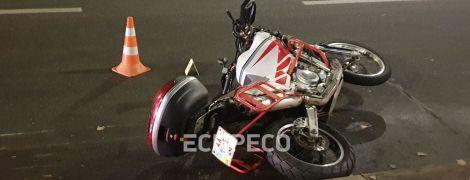 В Киеве мотоциклист насмерть сбил человека