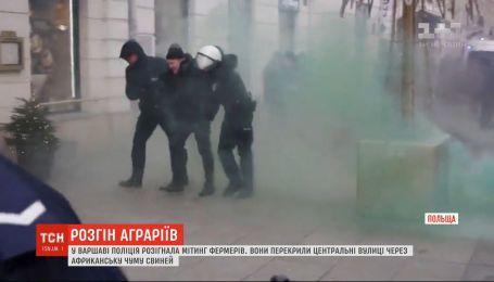 У польській столиці поліція силою розігнала демонстрацію фермерів