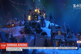 """На столичній ВДНГ відкрилося новорічне містечко """"Зимова країна"""""""