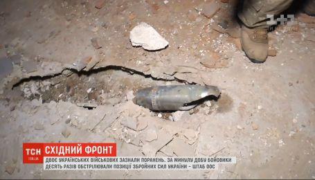 За прошедшие сутки боевики 10 раз обстреляли позиции украинских воинов