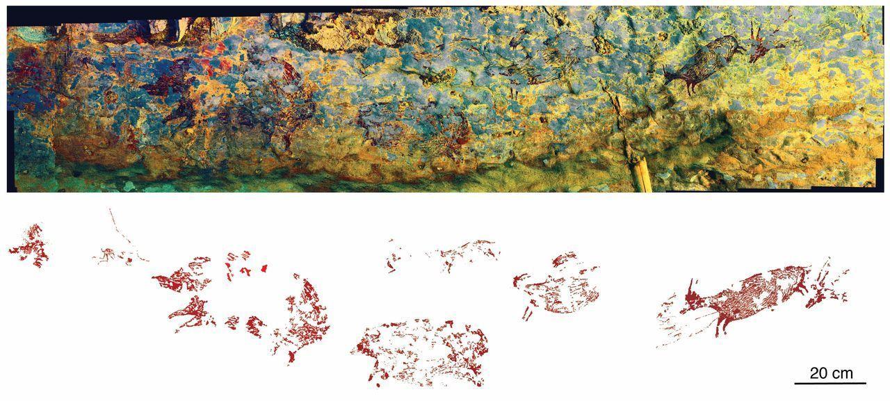 наскельний малюнок індонезія 4
