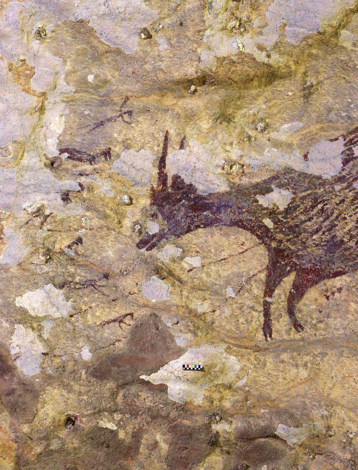 наскельні малюнки з індонезії