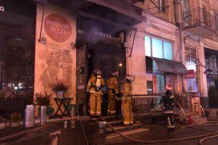 В Киеве на Печерске загорелся ресторан