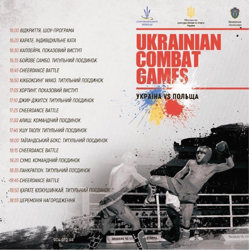 Ukrainian Combat Games програма