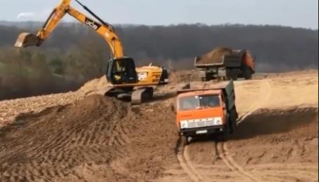 Строительство окружной Ровно показали на видео