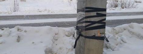 В РФ електроопору полагодили за допомогою ізоляційної стрічки