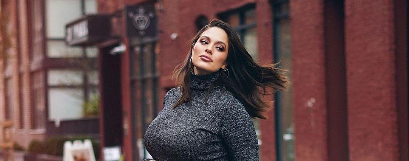 Гибкая Эшли Грэм сообщила, сколько веса набрала за беременность