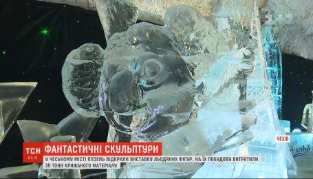 В Чехии к Рождественским праздникам открыли выставку ледяных скульптур