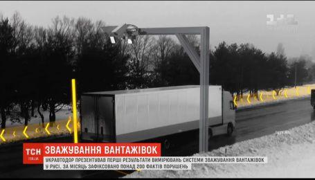 Зважування вантажівок в русі: за місяць зафіксовано понад 200 фактів порушення