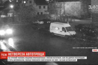 Пьяный мужчина в Ровно украл микроавтобус и разбил на нем пять автомобилей