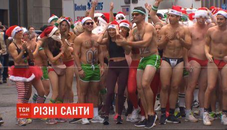 Санта-Клаусы шагают миром: в США провели 20-е гонки к Рождеству