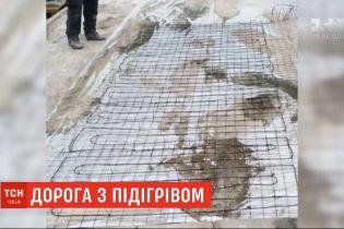 В Киеве строят дорогу с подогревом: как это будет работать