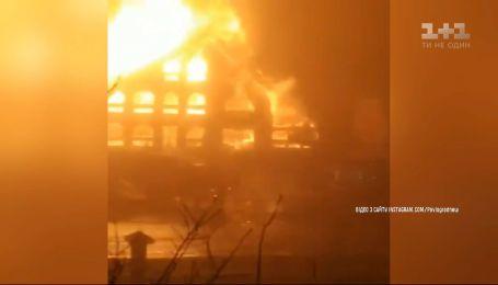 Масштабный пожар произошел в ресторане Павлограда, что в Днепропетровской области