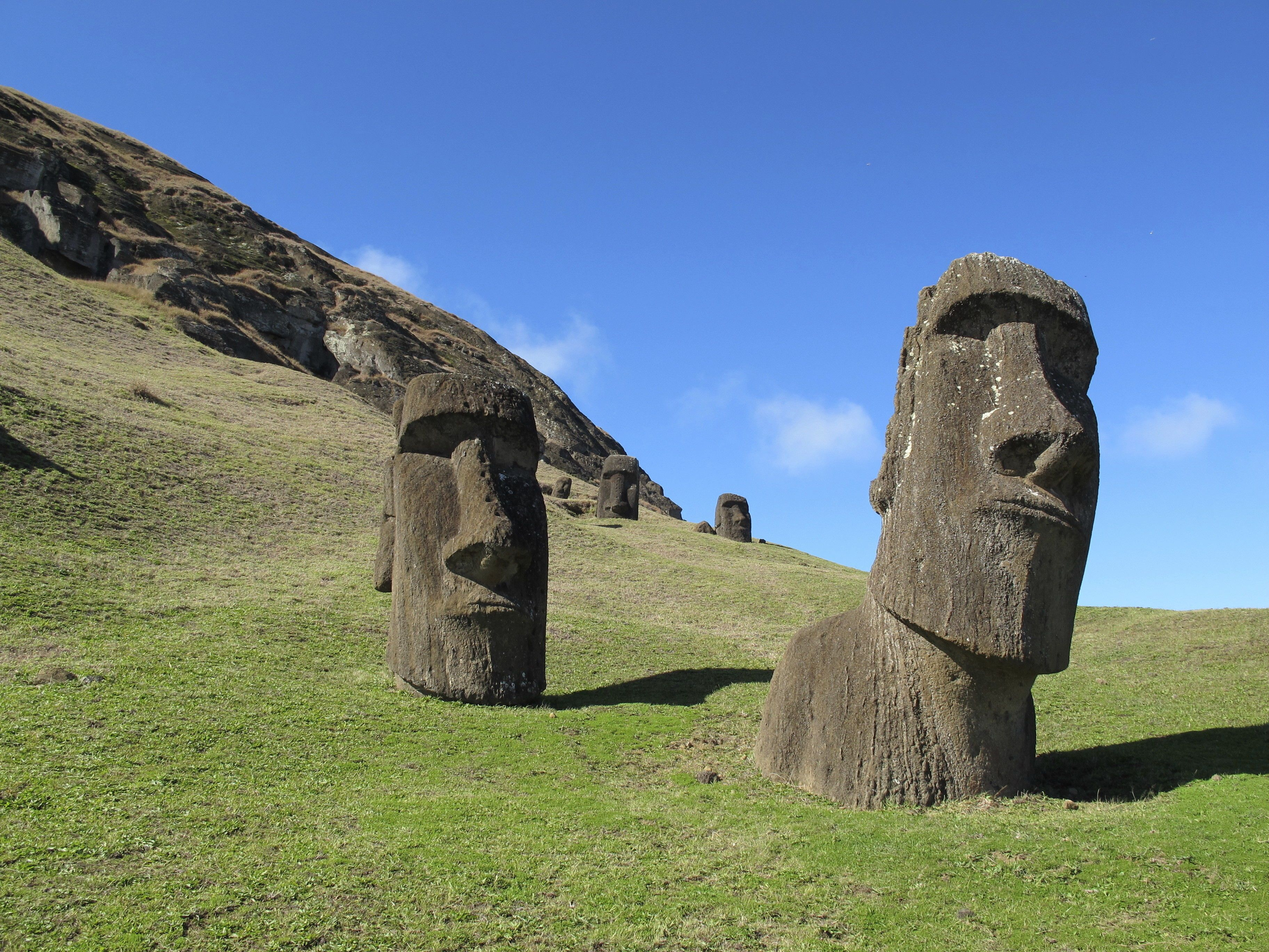 острів пасхи, моаї