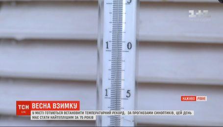 Самый теплый день за 75 лет: в Ровно готовятся установить температурный рекорд