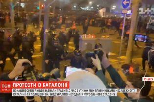Вследствие масштабных столкновений в Каталонии 13 человек забрала скорая