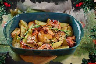 Айва, запечена з картоплею