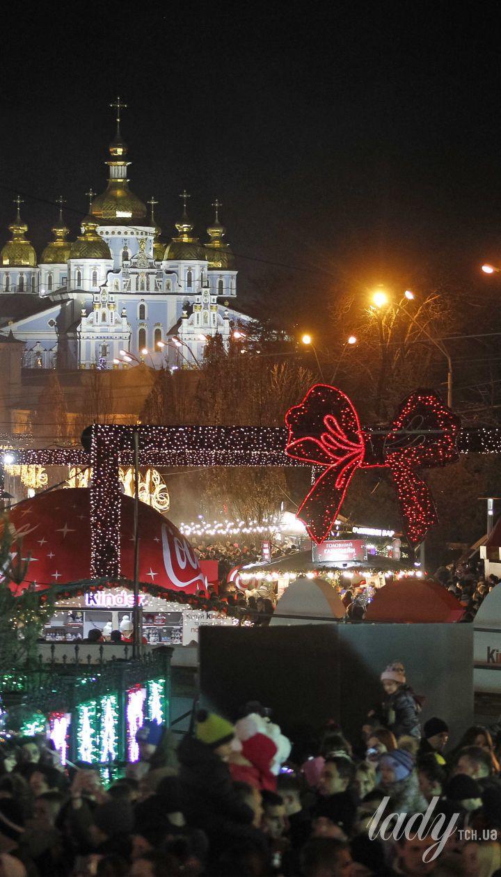 Ялинка на Софійській площі в Києві