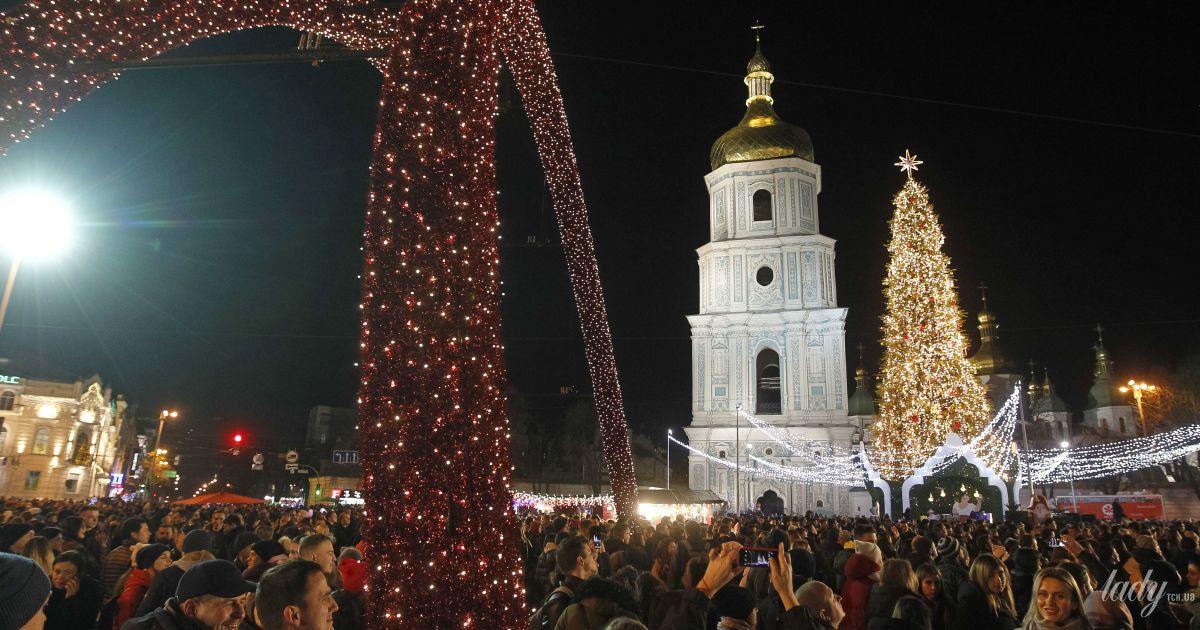 Елка на Софийской площади в Киеве