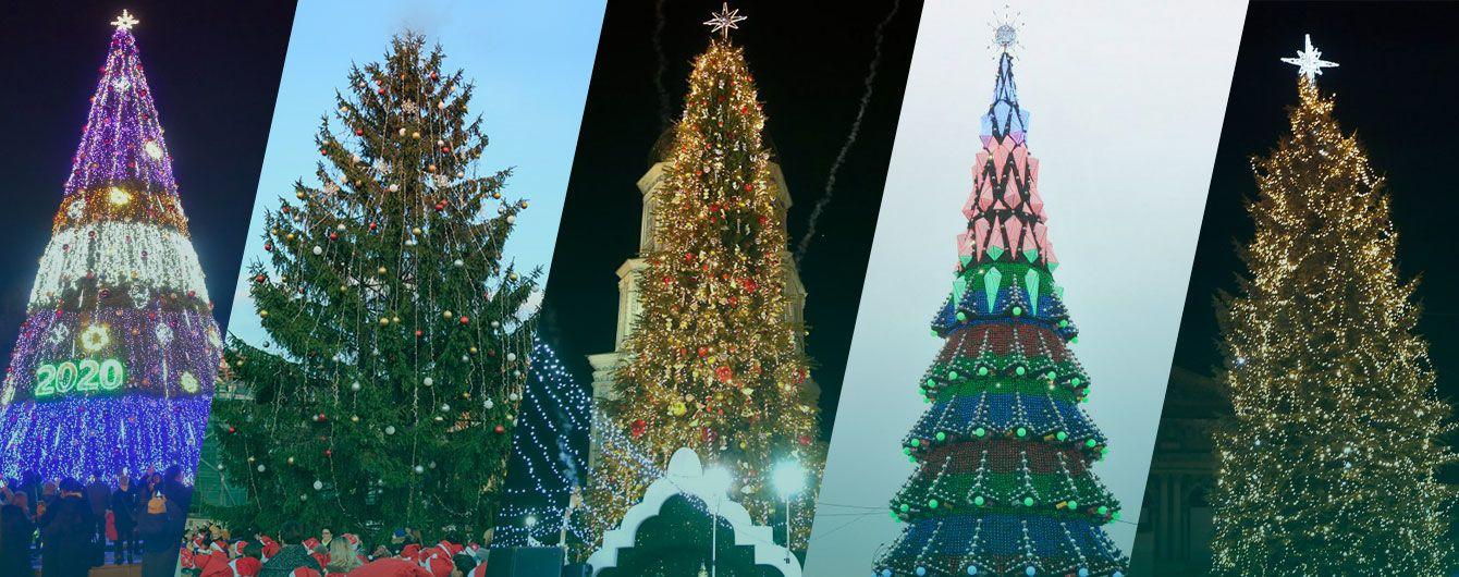 Лаконичные украшения и странные 3D-узоры. Как выглядят праздничные елки в Украине