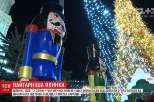 Чья красивее: ТСН сделала обзор новогодних елок из разных городов Украины
