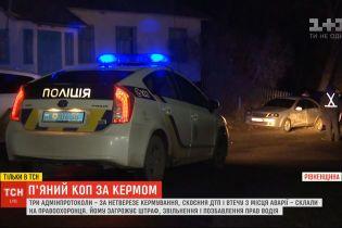 Пьяный коп совершил аварию и хотел убежать, а после задержания вызвал подставного водителя