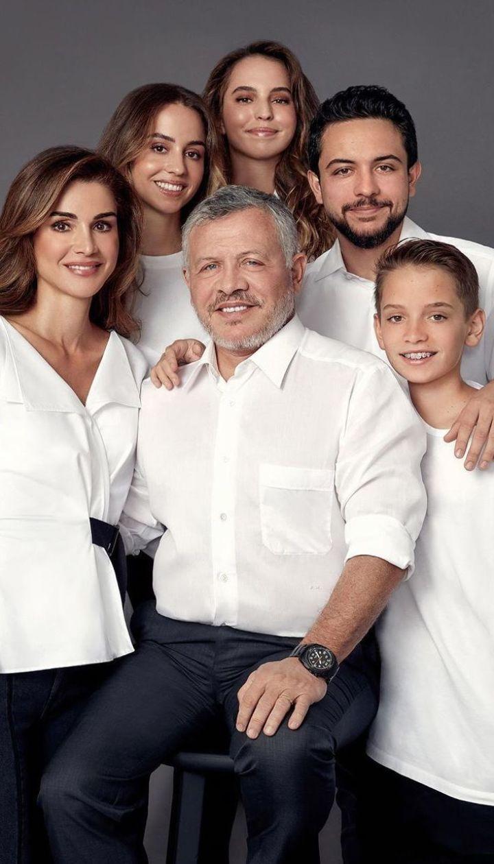 Королева Йорданії Ранія з родиною