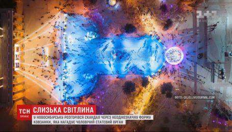 Жители Новосибирска возмущены неоднозначной формой катка, власти советуют им обратиться к психологу