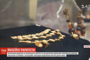 Унікальну діадему зі скіфського золота вперше показали у Харкові