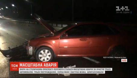 На проспекте Победы в столице произошла крупная авария