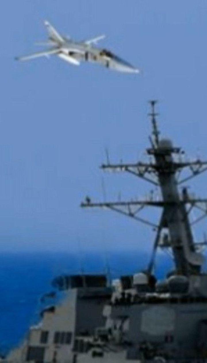 Американський ракетний есмінець став умовною мішенню для військовиків РФ у Чорному морі