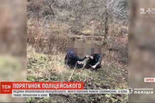 Злоумышленник, который в Харькове взял в заложники прохожую, тяжело ранил копа